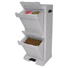Does not ship to Canada, but I love this. Richell Pet Stuff Tower for Food Storage - Cool Grey - $64.97 @hayneedle