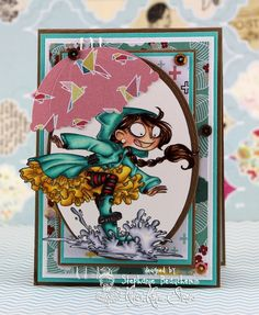 A World of Creative Possibilities: Kraftin' Kimmie Stamps : New release day 3, Under my umbrella!