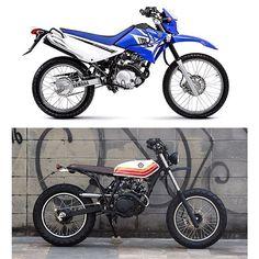 Antes e depois - Bizuga - Yamaha 125cc.