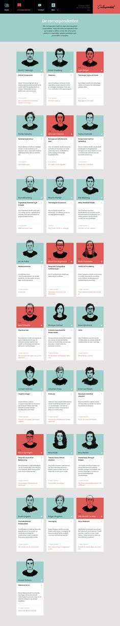 De Correspondent by Momkai , via Behance Ad Design, Layout Design, Branding Design, Buyer Persona, Design Responsive, Team Page, Ui Design Inspiration, Profile Design, Web Layout