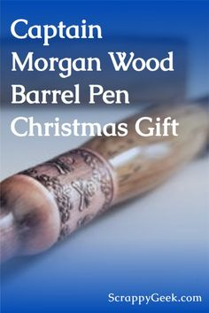 A beautiful pen made using Captain Morgan distillery barrel! A great Christmas gift for whiskey drinkers, husbands, boyfriends, and more! #whiskey #barrel #captainmorgan #captmorgan #woodpen #christmasgiftformen #giftsformen #giftformen #whiskeylovers #bourbon #giftforhusband
