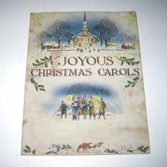 Vintage Joyous Christmas Carols Song Book by grandmothersattic, $4.50