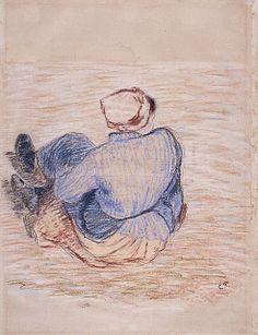 Pissarro, Paysanne assise 1885