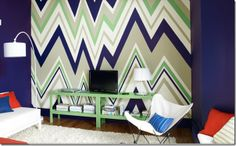 benjamin moore wild aster paint images   Benjamin Moore zig zag painted wall im busy procrastinating