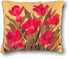 click here to view larger image of Floral Pillow (needlepoint kits)