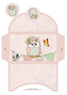 A Little Owl Told Me Money Wallet on Craftsuprint designed by Janet Roberts - This money wallet goes with my 'A Little Owl Told Me' mini kit ..... please see the link below - Now available for download!