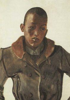 Deineka - Black Boy 1935 year Oil on canvas St. The Russian Museum Black Art Painting, Alex Colville, Socialist Realism, Soviet Art, Art Database, Global Art, Black Boys, New Artists, Art World
