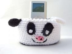 Cow Amigurumi Phone Charging Dock  by KangarooCrafts for $12.00
