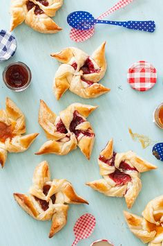 Jam and Cream Cheese Pastry Pinwheels —use your favorite jam or jelly to make these easy Summer-ready pastries, via @followcharlotte