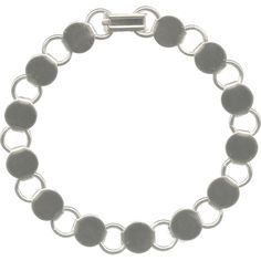 """Bracelet, 7-1/4"""", Disk and Loop"""