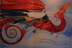 "© Jackie Morris ~ Wind Dragon ~ Tell Me A Dragon written and illustrated by Jackie Morris ~ 2009 ~ via Jackie Morris ""The image above is a w..."