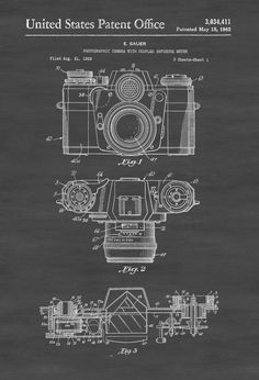 Zeiss Camera Patent - Patent Print Wall Decor Photography Art Camera Art by PatentsAsPrints