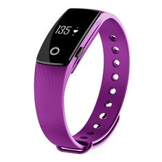 Fitness Tracker with Heart Rate Monitor, Morefit H6 Wireless Bluetooth Touch Screen Smart Watch Healthy Wristband, Purple. <p>✔</p> US Silicon labs Si1142 chipset, make every beats count and more accurate, no chest belt required. <p>✔</p> Support touch screen, wrist sense and side button operate, easy to pair the device from app; A full charge lasts for 7 days. <p>✔</p> Compare your daily, weekly, monthly, yearly HR, Activity, Sleep on the app, get a better understanding of your fitness...