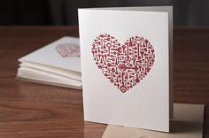 Clé de mon coeur typogravure par NoteworthyPress sur Etsy