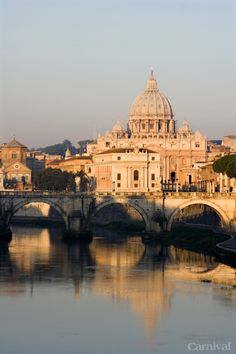 St Peter's & Angels Bridge / Roma (last day to enter the contest, so hurry up whydontya) Oh The Places You'll Go, Places To Travel, Places To Visit, European Vacation, European Travel, Carnival Cruise Deals, Antonio Gaudi, Around The World In 80 Days, Cruise Destinations