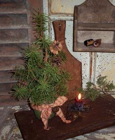 Christmas tree~LINK  TO PRIMITIVE HOME DECOR ONLINE STORE