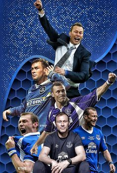 Duncan Ferguson over the years, Everton temp manager and player. ETKE edit