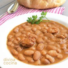 You searched for Alubias - Divina Cocina Bean Recipes, Veggie Recipes, Mexican Food Recipes, Cooking Recipes, Healthy Recipes, Ethnic Recipes, Spanish Recipes, Spanish Cuisine, Soup And Salad