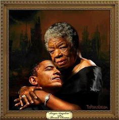 In a touching tribute to the recently deceased celebrated poet, Maya Angelou, president Barack Obama didn't spare elevated epithets, praising her as the Barack Obama . Barack Obama, Black Love Art, My Black Is Beautiful, Beautiful People, Beautiful Poetry, Beautiful Person, Beautiful Moments, Beautiful Artwork, Simply Beautiful