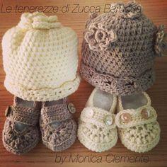 Cuffiette e scarpine neonato in lana merino100%