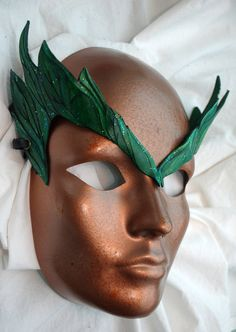 Woodland Greens Poison Ivy Inspired Forest Leaf Sprite Leather Dryad Cosplay Circlet. $30.00, via Etsy.