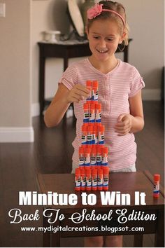 Printable Minute To Win It GAME CARDS - Back To School Edition #mydigitalcreations