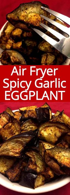 TNT This air fryer eggplant is amazing! So crispy, spicy and garlicky! Very quick and easy to make in the air fryer, this eggplant is so addictive! Air Fryer Recipes Snacks, Air Fryer Recipes Low Carb, Air Fry Recipes, Healthy Recipes, Cooking Recipes, Cooking Tips, Keto Recipes, Air Fryer Recipes Vegetables, Ninja Recipes