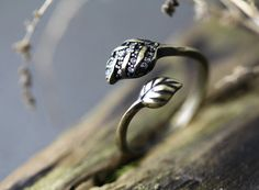Hey, I found this really awesome Etsy listing at https://www.etsy.com/listing/182651492/retro-burnished-leaves-ring-nature-theme