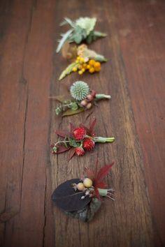 Autumn button holes.