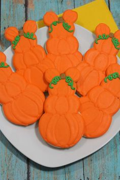 Mickey Mouse Pumpkin Cookies Recipe inspired by Mickey Mouse