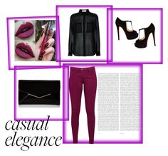 """Casual elegance"" by ahmetovic-mirzeta ❤ liked on Polyvore featuring Yves Saint Laurent, Great Plains, Christian Louboutin, Furla and Oris"