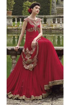 Diwali festival and wedding season special salwar suits with discount offer deal prices in India. We have a huge range of designer heavy Anarkali salwar suits online collection for special events. Designer Anarkali, Designer Gowns, Diwali Dresses, Fancy Gowns, Indian Bridal Wear, Indian Wear, Indian Attire, Indian Style, Anarkali Dress