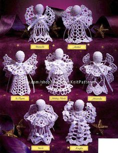 7 Little Angels Crochet Pattern PDF Christmas Special Occasion