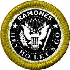 The Ramones Fan Merit Badge
