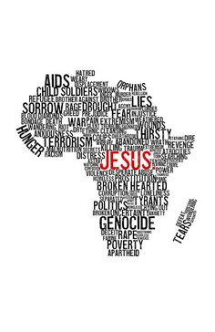 Jesus IS there, even in the midst of all those terrible things. #prayforafrica