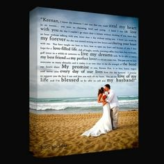 First dance lyrics with wedding picture on canvas by lorene