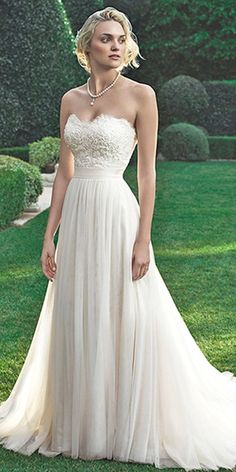 strapless sweetheart neckline wedding gowns 14