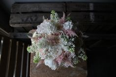 Bridal Bouquet of soft pinks and white.  www.theflowermilldraycott.co.uk