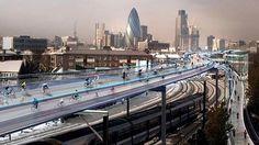 Video: Londres piensa desarrollar pistas para bicis por encima de las vías de ferrocarril