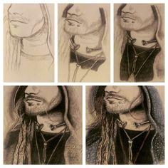 Viking Dude 2015 - Progress by Amy Suzanne Taggart aka Amz  #amzart #artist #artwork #sketch #drawing #art #illustration