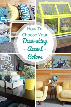 how to create your decorating colors :: teal and lime