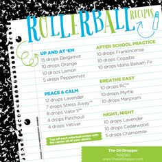 Another favorite are rollerball blends. These are some back-to-school favorites you don't want to miss out on. Save these to your essential oil board and visit THE OIL DROPPER for more great ideas