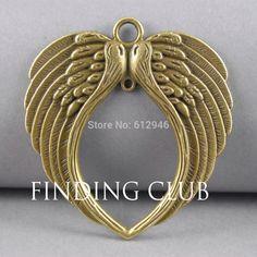 Купить товарБесплатная доставка! 4 шт. 2 цвета крыло ангела разъем подвеска изготовления ювелирных изделий DIY металлические браслет заключения ожерелья A705 / A827 в категории Подвескина AliExpress.