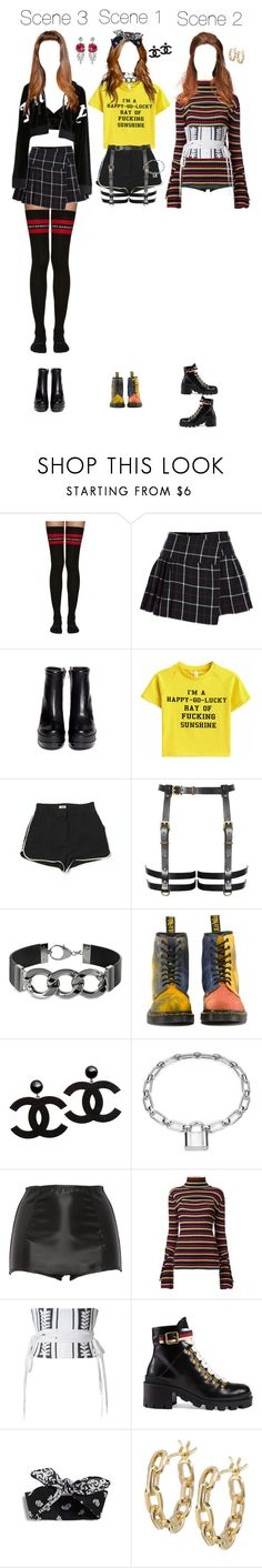 """""""(Melody) April's Karma M/V Outfits"""" by k-p0p101 ❤ liked on Polyvore featuring Vetements, Étoile Isabel Marant, Robert Clergerie, L'Agence, Pluma, Dr. Martens, Blue Nile, Dolce&Gabbana, G.V.G.V. and Alex Perry"""