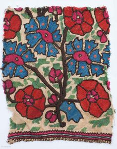 Ottoman Embroidery Fragment 20 x 17 cm