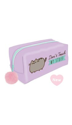Large Pusheen pencil case with a lilac tinted PVC outer (note picture shows solid colour but this is actually tinted) and a real pom pom dangler to the zip. Measures 19 cm long by 10 cm high and 10 cm deep. Cute Pencil Pouches, Cute Pencil Case, Pencil Cases, Pusheen Cute, Pusheen Stuff, Cool School Supplies, Cat Supplies, School Suplies, Jojo Bows