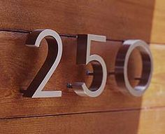 Modern houses, House number signs and Signs on Pinterest - ^