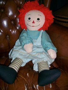 vintage raggedy ann doll.