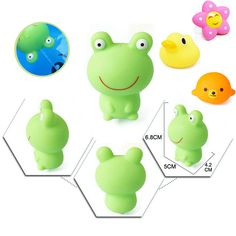 Cute Animals Bath Toys In Bathroom Floating Squeeze Soft Rubber Colorful Flowers Bear Frog Duck Dog Baby Kids Toys For Boy Girls #>=#>=#>=#>=#> Click on the pin to check out discount price, color, size, shipping, etc. Save and like it!