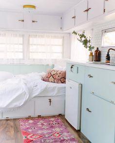 Vintage Viscount Caravan Ideas With Boho Interior 30 Decor, Home, House Design, Caravan Decor, Interior, Rv Living, Vintage Caravan Interiors, Tiny House Design